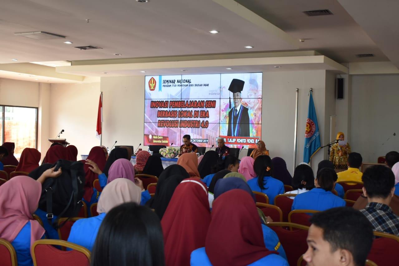 FKIP PGSD Untad Gelar Seminar Nasional Terkait Inovasi Pembelajaran Seni Berbasis Lokal Era Revolusi 4.0