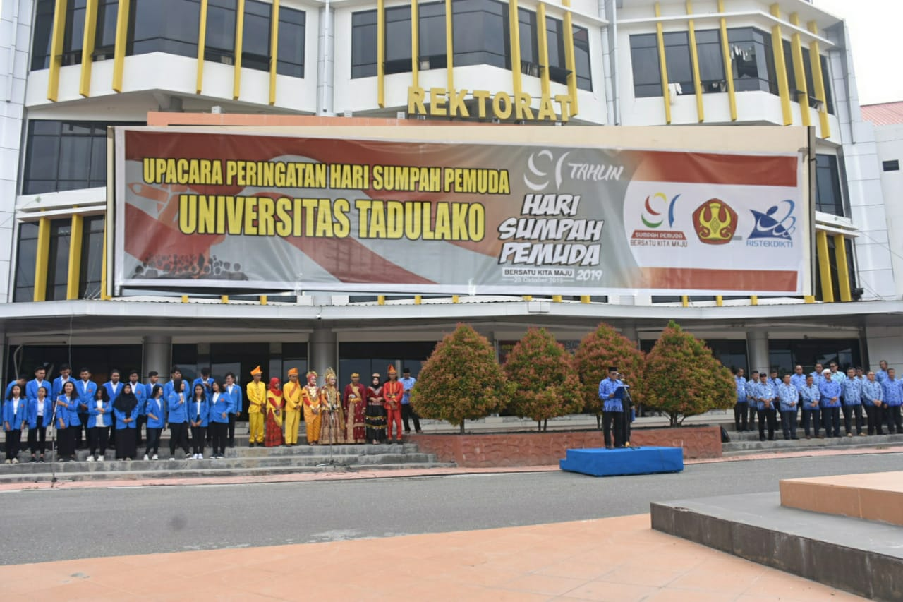Peringati Hari Sumpah Pemuda Ke 91, Universitas Tadulako Gelar Upacara