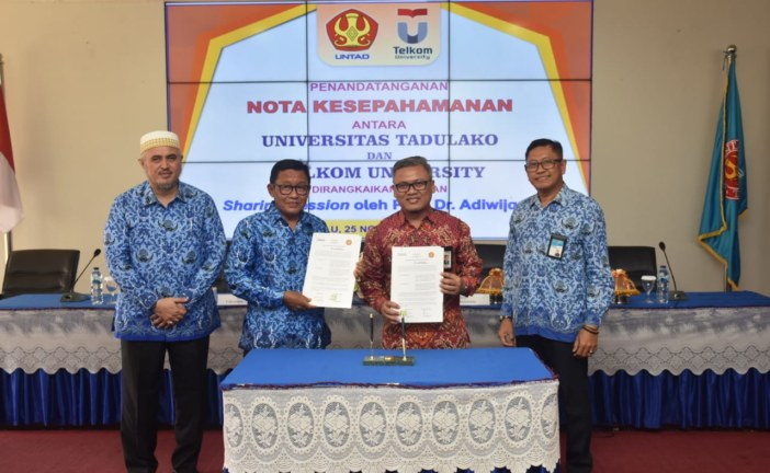 Untad & Universitas Telkom Jalin Kerjasama Di Bidang Pengajaran, Penelitian Dan Pengabdian Kepada Masyarakat