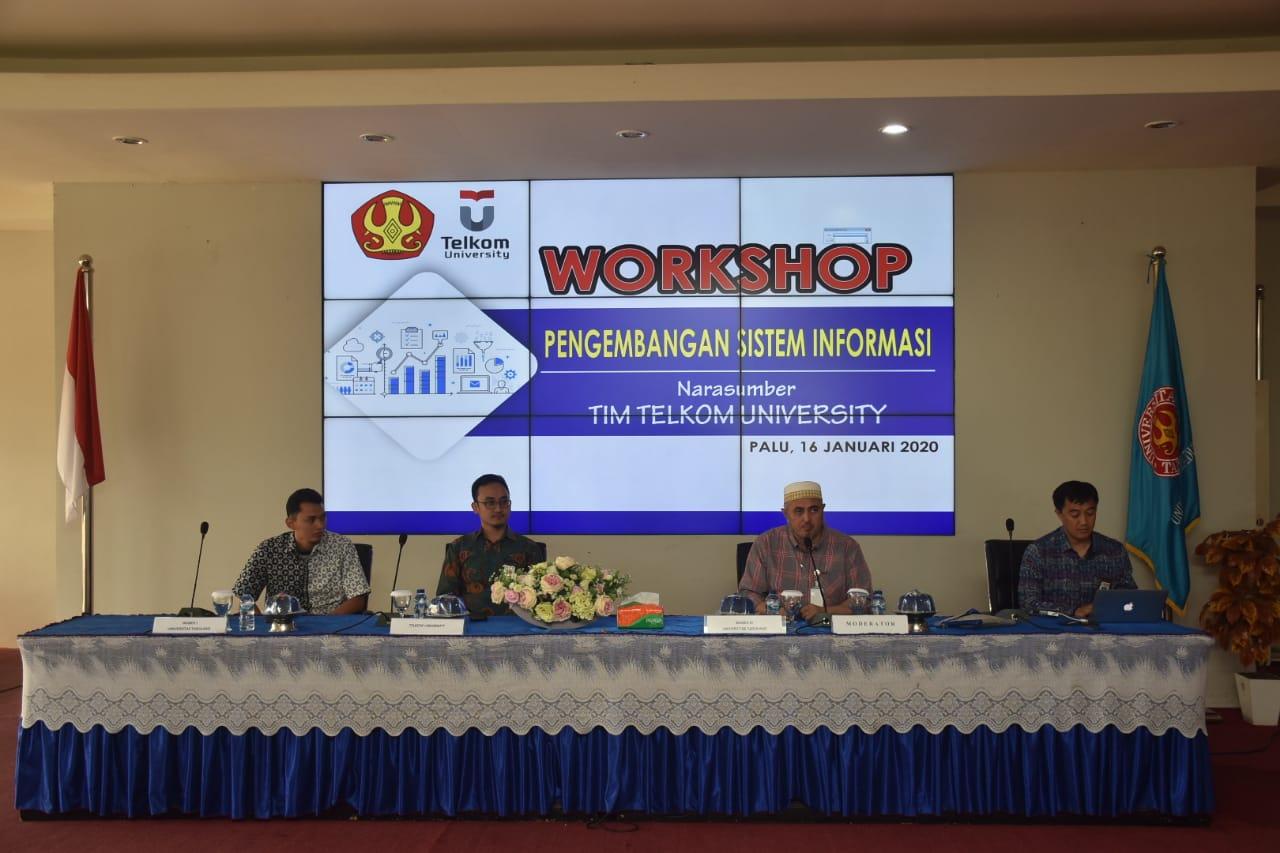 Untad Gelar Workshop Pengembangan Sistem Informasi Bersama Telkom University