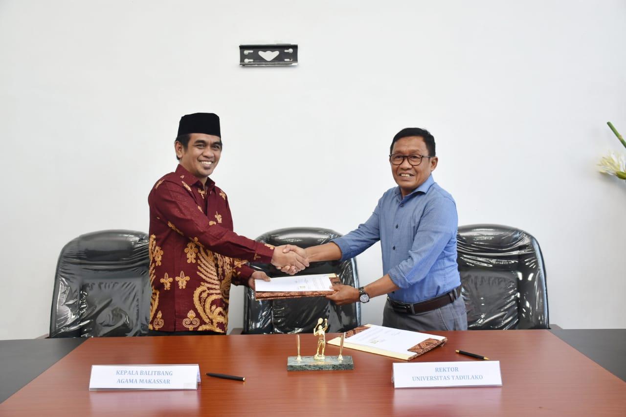 Untad & Balitbang Agama Makassar Jalin Kerjasama Terkait Pendidikan, Penelitian Dan Pengabdian Serta Pengembangan Antar Lembaga
