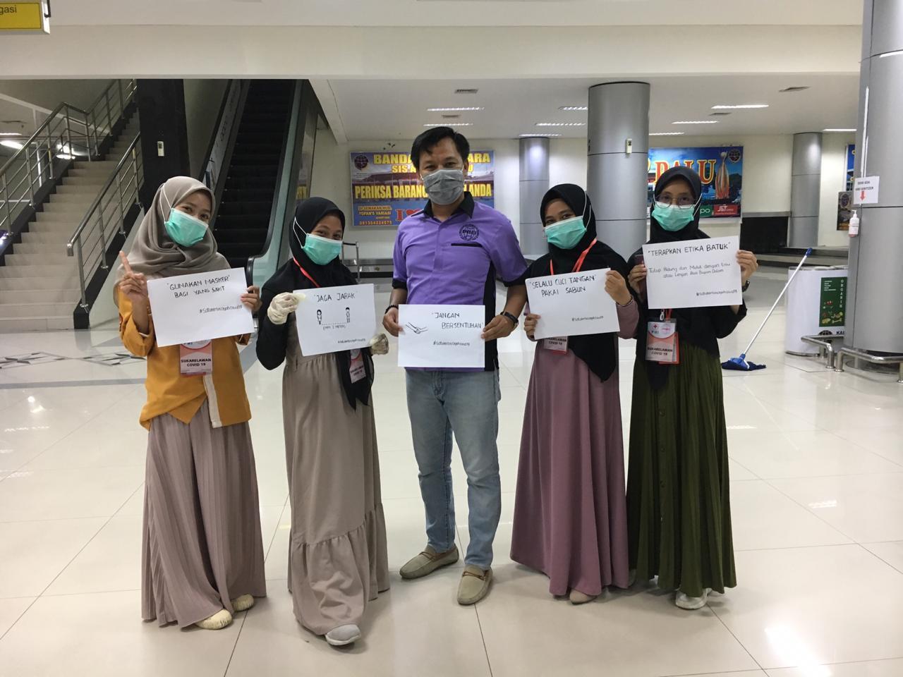Mahasiswa/i Fakultas Kesehatan Masyarakat Untad Turut Serta Sebagai Relawan Covid-19