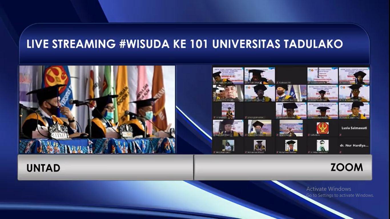 1.611 Lulusan Untad Angkatan 101 Ikuti Acara Wisuda Via Online