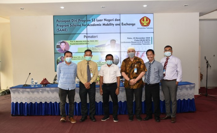 International Office Gelar Workshop Persiapan Dini Program S3 Luar Negeri dan Program SAME