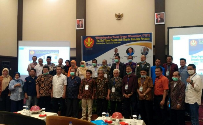 Prodi Magister Ilmu Pertanian Untad Gelar Workshop & FGD Menuju Standar Internasional Dan Berwawasan Lingkungan