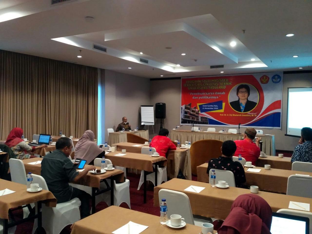 Prodi Magister Teknik Sipil Untad Gelar Workshop Terkait Penulisan Karya Ilmiah & Publikasinya
