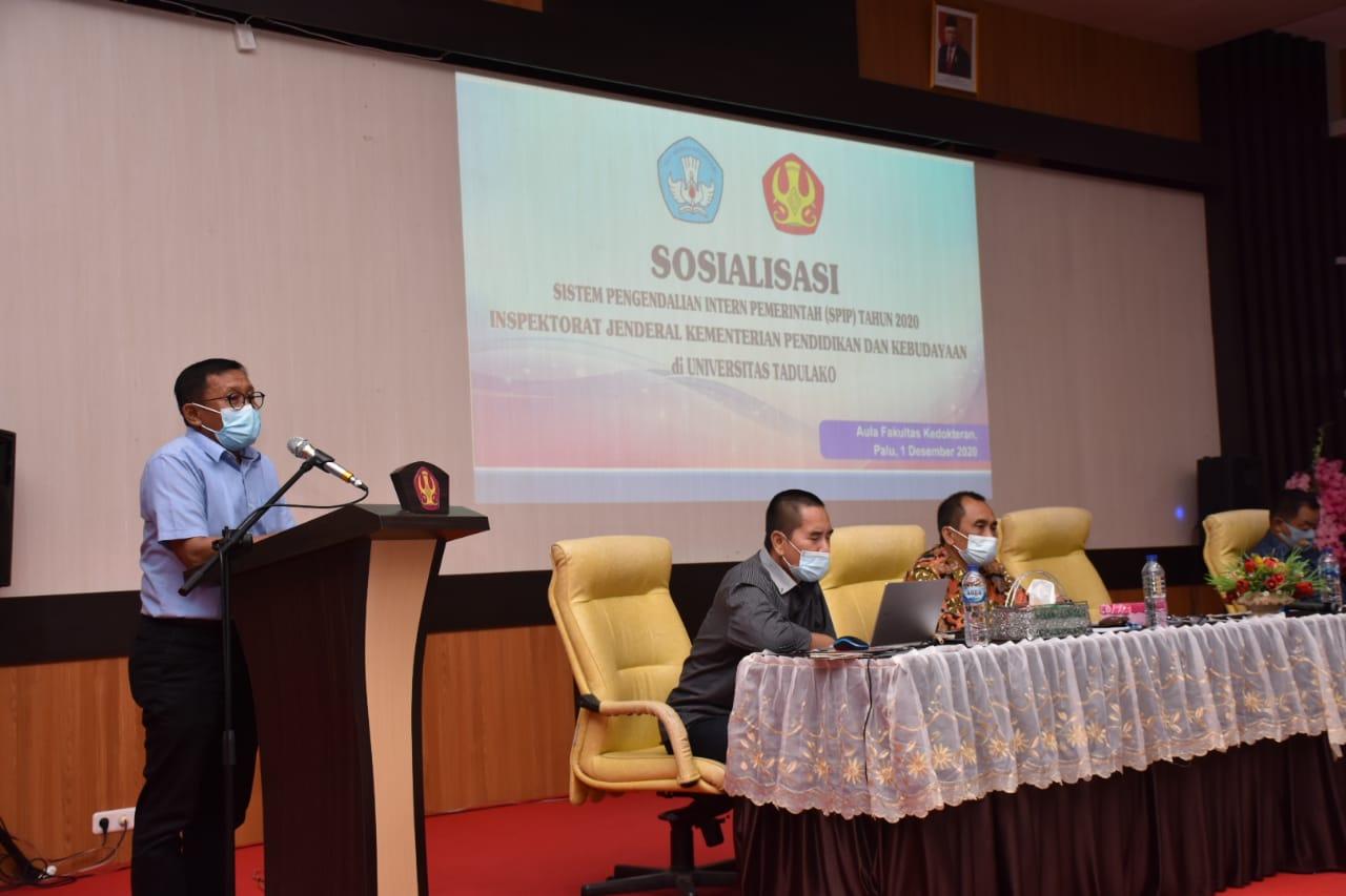 Inspektorat Jenderal Kemendikbud Beri Pembinaan & Maturitas SPIP Bagi Pimpinan Dan Seluruh Pegawai Untad
