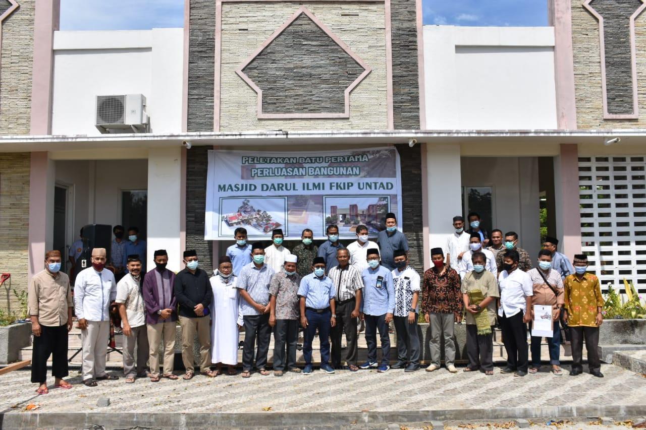 Fakultas Keguruan & Ilmu Pendidikan Untad Perluas Kapasitas Masjid Darul Ilmi FKIP