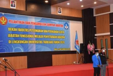 Rektor Lantik Dekan Fakultas Peternakan & Perikanan Periode 2020 – 2024 Serta 74 Pejabat Fungsional Melalui Penyetaraan