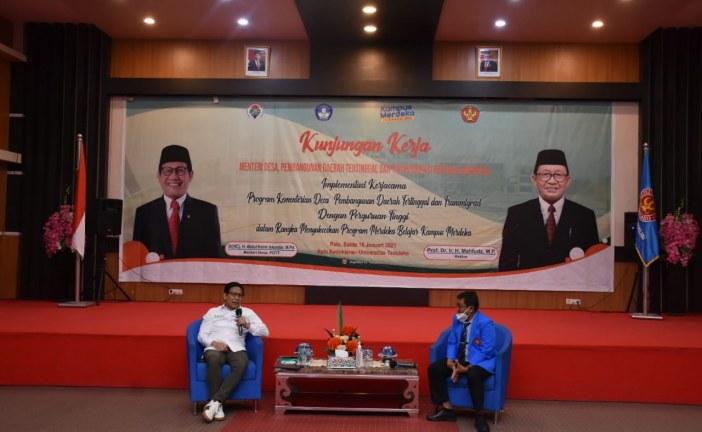 Sukseskan Program Merdeka Belajar,Menteri Desa dan PDTT Bahas Peran Perguruan Tinggi dalam Pembangunan Desa