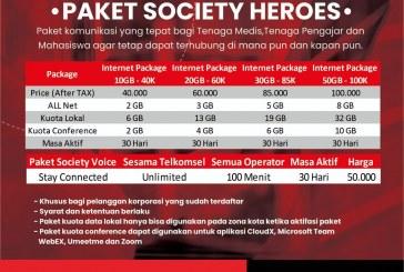 PAKET KUOTA SOCIETY HEROES KERJASAMA UNTAD & TELKOMSEL DIPERPANJANG
