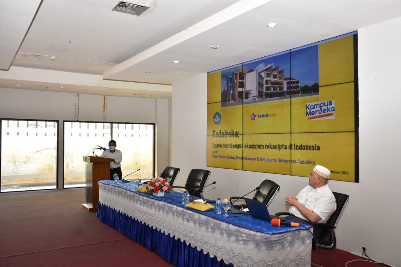 Untad Sosialisasikan Matching Fund Platform Kedaulatan Indonesia Dalam Reka Cipta (Kedaireka)