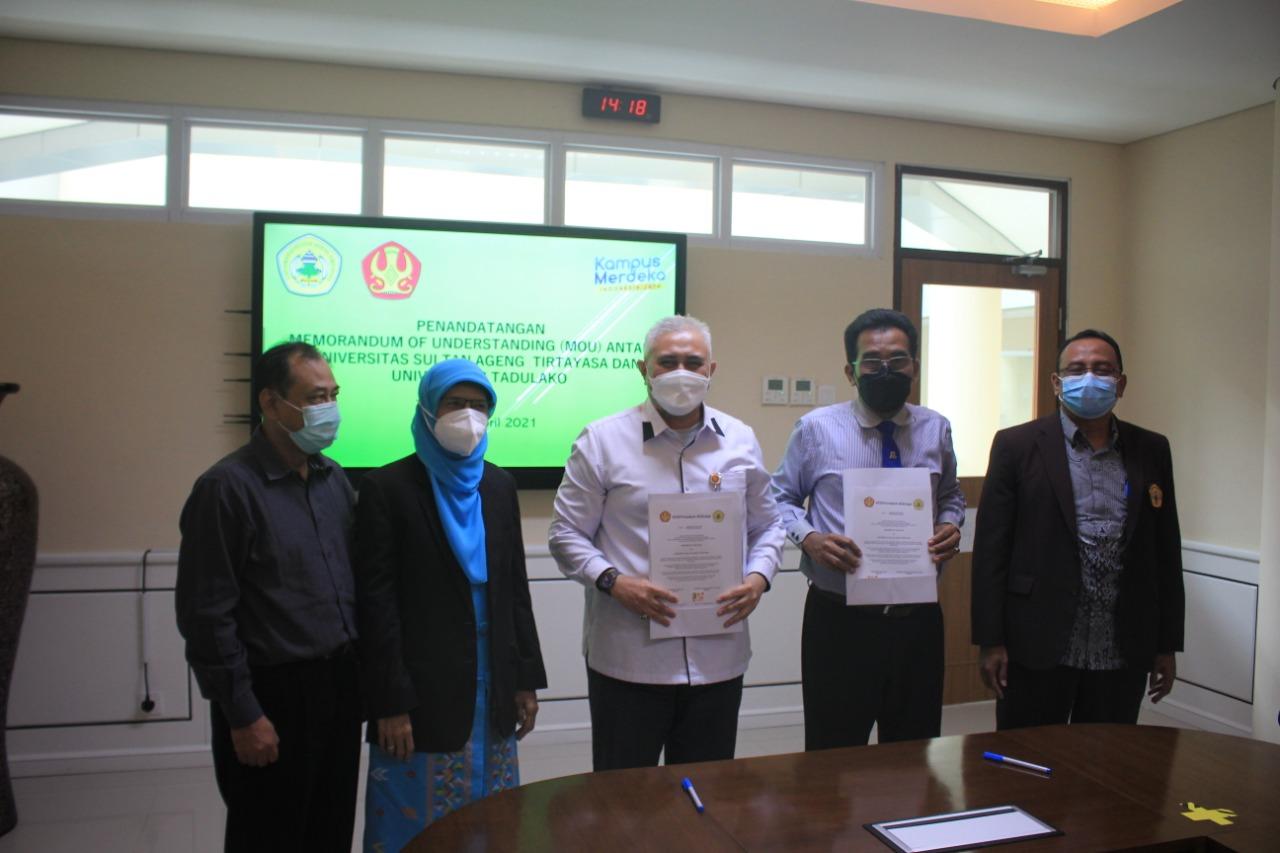 Untad & Universitas Sultan Ageng Tirtayasa – Banten Sepakati Kerjasama Di Bidang Tridharma Perguruan Tinggi