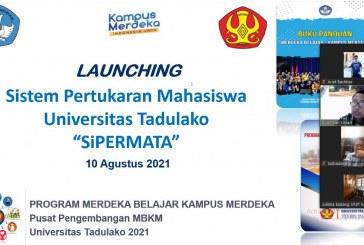 "Untad Launching Sistem Pertukaran Mahasiswa Universitas Tadulako ""SiPERMATA"" Tahun 2021"