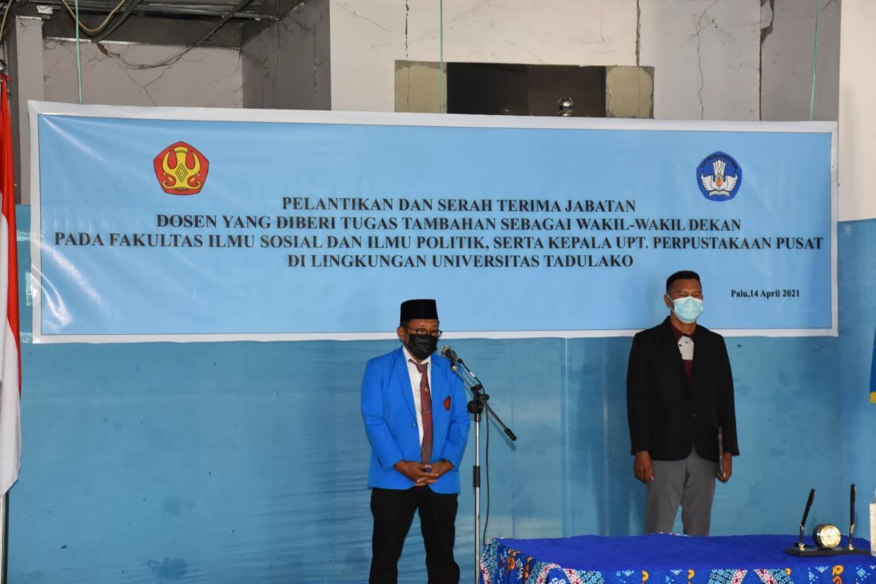 Rektor Lantik Wakil-Wakil Dekan FISIP & Kepala UPT Perpustakaan Untad Periode 2021 – 2025
