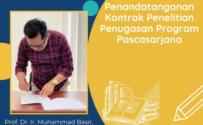 Lima Guru Besar Untad Tandatangani Kontrak Penelitian Program Pascasarjana