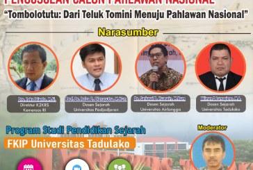 Prodi Pendidikan Sejarah Untad Gelar Seminar Nasional Terkait Pengusulan Tombolotutu Sebagai Calon Pahlawan Nasional Asal Sulteng
