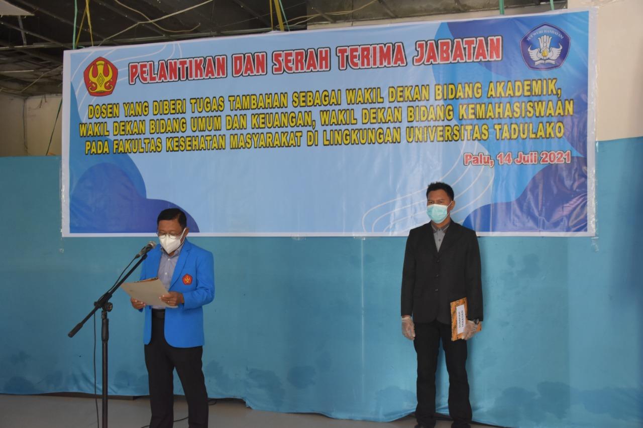 Rektor Lantik Wakil Dekan Fakultas Kesehatan Masyarakat Periode 2021 – 2025 & Kepala Divisi PPU Untad