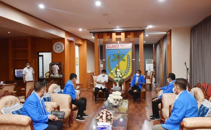 Jalin Silaturahmi, Rektor Untad Kunjungi Gubernur Sulawesi Tengah