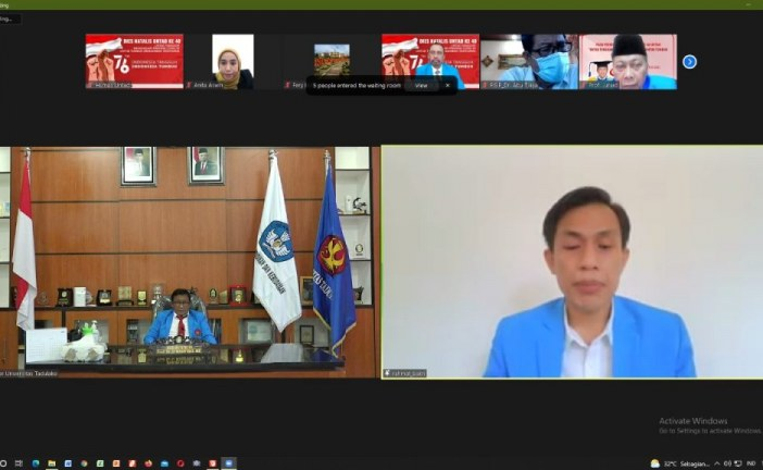 Commemorating the 40th Dies Natalis, Tadulako University Held Virtual Ceremony