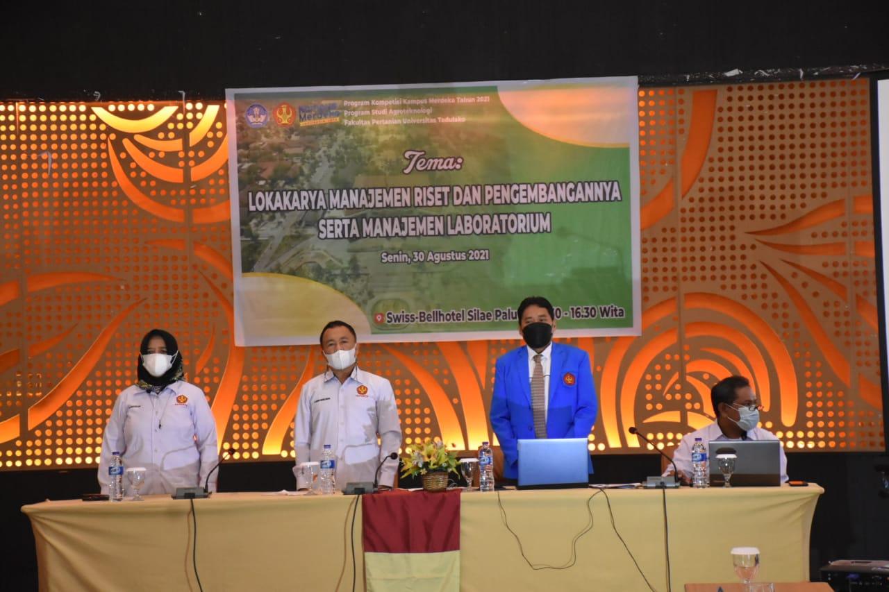 Faperta Untad Gelar Lokakarya Manajemen Dan Pengembangannya Serta Manajemen Laboratorium