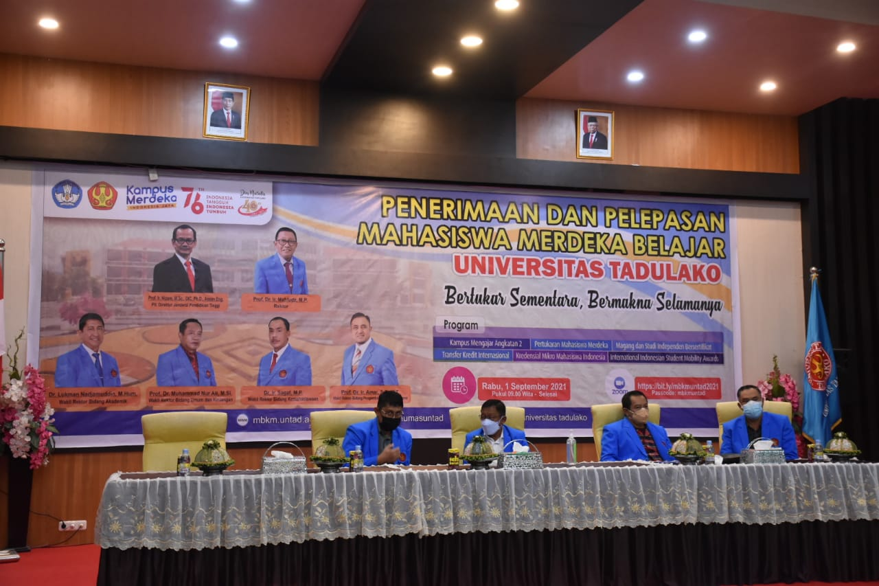 Untad Held Reception & Release Ceremony for Independent Learning Students
